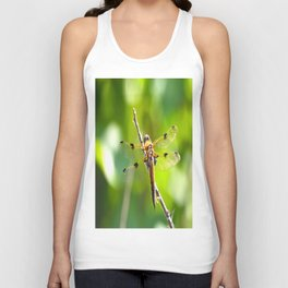 Dragonfly On A Branch Of A Rose #decor #society6 Unisex Tank Top