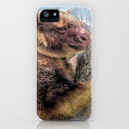 Tree Kangaroo iPhone Case