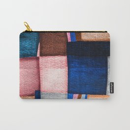 Blue Sashiko Carry-All Pouch