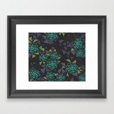 Mosaic Black and green . Framed Art Print