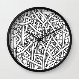 entwined stripes Wall Clock