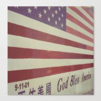 flag Canvas Prints featuring Flag by Karin Elizabeth
