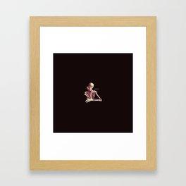 Skeleton Waiting Framed Art Print