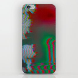 Analogue Glitch Radioactive Bouquet iPhone Skin