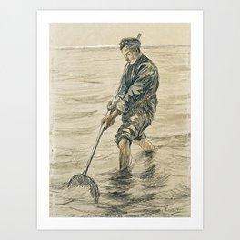 The Shell Fisherman Art Print