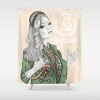 russian Shower Curtains featuring Russian Revolution by Sara Elan Donati