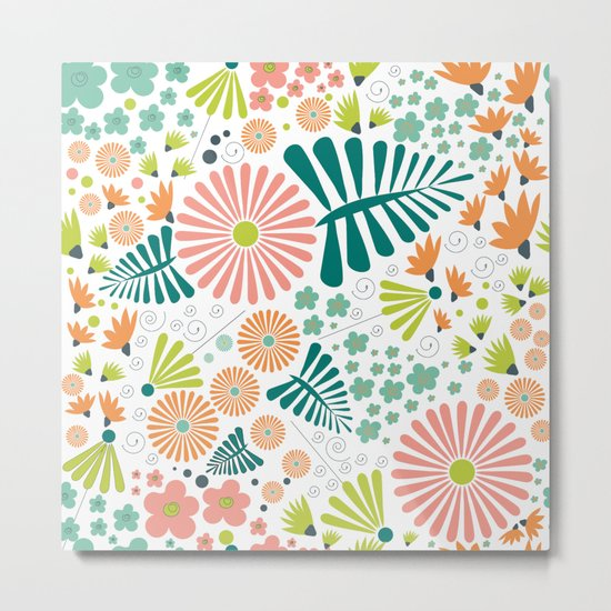 Whimsical flowers Metal Print