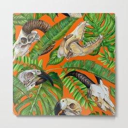 VoodoWitch Pattern #9 Orange Metal Print
