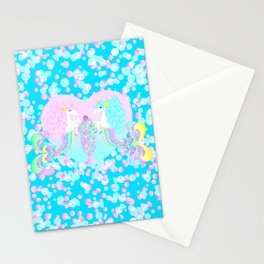 Mermicorn Twins Candy and Bubbles Stationery Cards