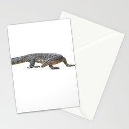 isolated varanus on on white background Stationery Cards