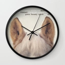 Grace, Beauty, Spirit & Fire Wall Clock