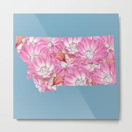 Montana in Flowers Metal Print
