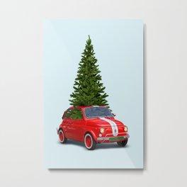 CHRISTMAS CAR Metal Print