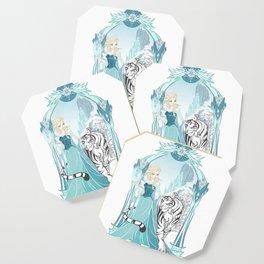 Frozen White Tiger Coaster