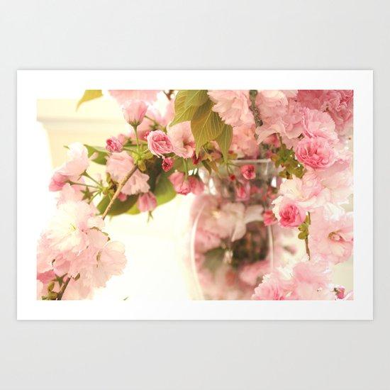 Dreamy Pink Apple Blossoms  Art Print