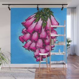 Pretty in Pink Bell Flowers Wall Mural