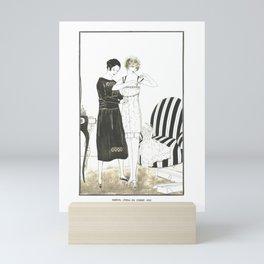 Siméon, L'essai du corset 1922 French Vintage Mini Art Print