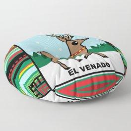 Christmas Loteria El Venado Floor Pillow