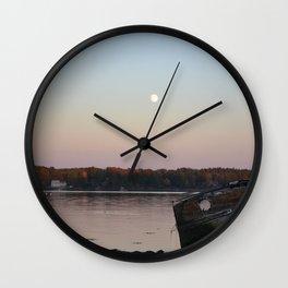 Moonrise Bay Wall Clock