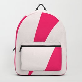 Modern abstract magenta pink art Backpack