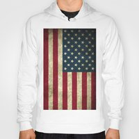 american flag Hoodies featuring American Flag by Abbie :)