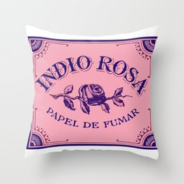INDIO ROSA rolling papers Throw Pillow