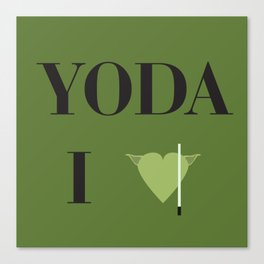 I heart Yoda Canvas Print