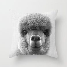 Alpaca Smile Throw Pillow