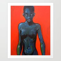 oil Art Prints featuring Oil by Cary Polkovitz