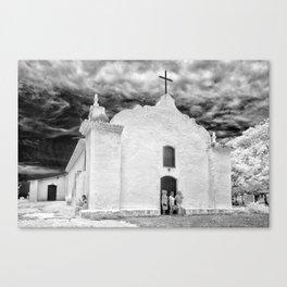 Church Black and White Canvas Print