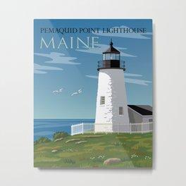 Pemaquid Point Lighthouse Metal Print