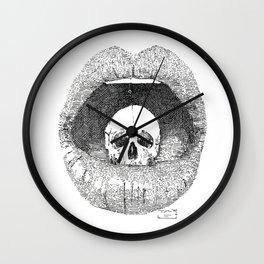 skull in lips Wall Clock