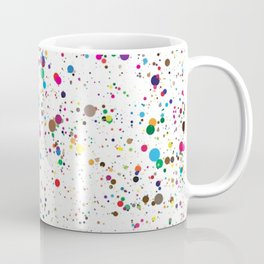 80s RAINBOW SPLATTER PAINT PATTERN Coffee Mug