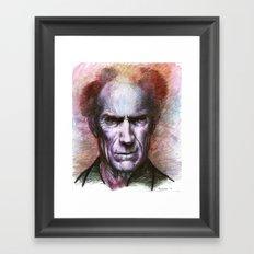 Clint Eastwood Portrait Framed Art Print