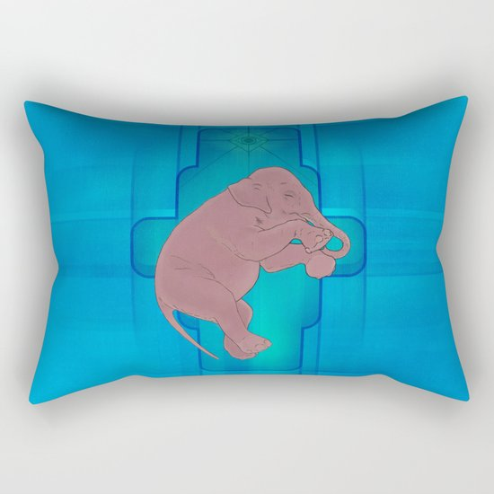 Astral Elephant Rectangular Pillow