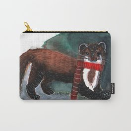 Marten in Winter Carry-All Pouch
