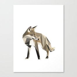 the sad fox Canvas Print