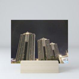 Architecture Photography   City Lights   Night   Buildings Mini Art Print