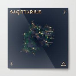 Sagittarius Constellation Metal Print