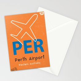 PER Perth airport code Stationery Cards