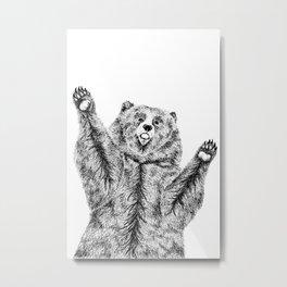 Bears just want hugs Metal Print
