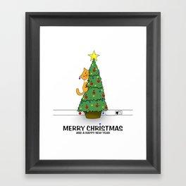 Lucy's Christmas Framed Art Print