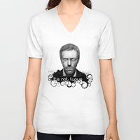 house md V-neck T-shirts featuring House MD It's Not Lupus  by Olechka