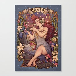 Gamer girl Nouveau Canvas Print
