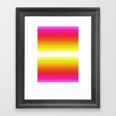 Color Gradient Poster Framed Art Print