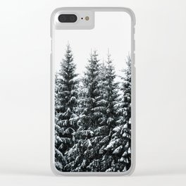 The White Bunch Clear iPhone Case