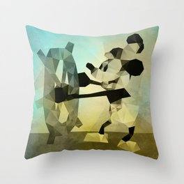 Mickey Mouse as Steamboat Willie Throw Pillow