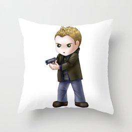 Chibi Dean Winchester (White BG) Throw Pillow