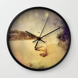 The path that hugs the beach Wall Clock