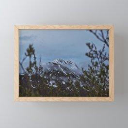 Spring Snow on Mountains Framed Mini Art Print